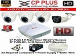 Tubros CP PLUS 4 HD CCTV Cameras and 4Ch Rs.705 Debit card EMI, without credit card and bajaj finance card